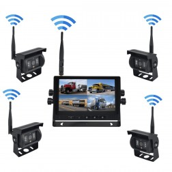 Kit Wireless Monitor TFT LCD 7 Polegadas FHK-GT-778QWT & 4 Câmaras 720P