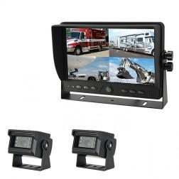 Kit Monitor TFT LCD 9 Polegadas FHK-GT-918FG & 2 Câmaras
