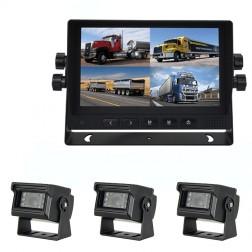Kit Monitor TFT LCD 7 Polegadas FHK-GT-778FG & 3 Câmaras
