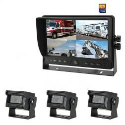 Kit Monitor TFT LCD 9 Polegadas FHK-GT-918FG-DVR & 3 Câmaras