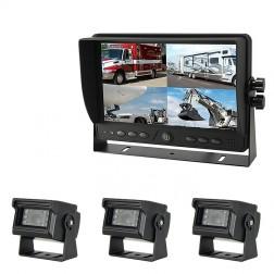 Kit Monitor TFT LCD 9 Polegadas FHK-GT-918FG & 3 Câmaras