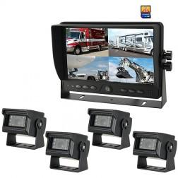 Kit Monitor TFT LCD 9 Polegadas FHK-GT-918FG-DVR & 4 Câmaras