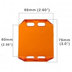 Cobertura / Capa Amarela  FHK-66MM-6.5CM para Barra led com 6.5 cm