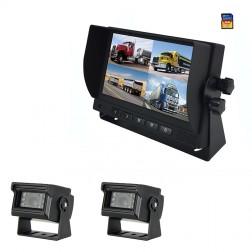Kit Monitor TFT LCD 7 Polegadas FHK-GT-778Q & 2 Câmaras