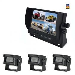Kit Monitor TFT LCD 7 Polegadas FHK-GT-778Q & 3 Câmaras