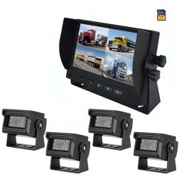 Kit Monitor TFT LCD 7 Polegadas FHK-GT-778Q & 4 Câmaras