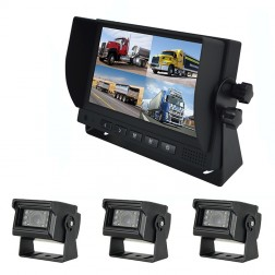 Kit Monitor TFT LCD 7 Polegadas FHK-GT-778T & 3 Câmaras
