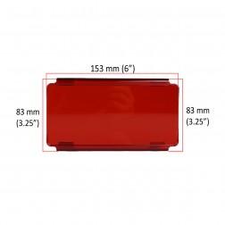 Cobertura / Capa Vermelha  FHK-152MMA-15CM para Barra led com 15 cm