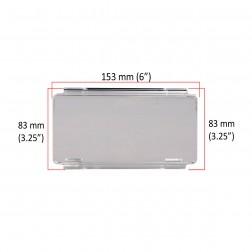 Cobertura / Capa Transparente  FH-152MMA-15CM para Barra led com 15 cm