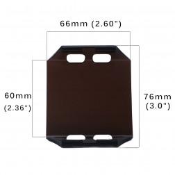 Cobertura / Capa Preta  FHK-66MM-6.5CM para Barra led com 6.5 cm