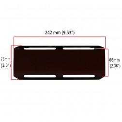 Cobertura / Capa preta  FHK-242MM-24CM para Barra led com 24 cm