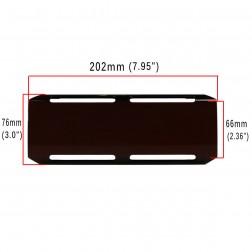 Cobertura / Capa Preta  FHK-202MM-20CM para Barra led com 20 cm