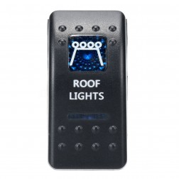 "FHBS-012 Botão On/Off Triger & Switch, 12V-24V  Led ""Roof Lights Azul"""