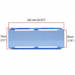 Cobertura / Capa Azul  FHK-242MM-24CM para Barra led com 24 cm