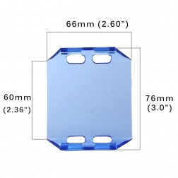 Cobertura / Capa Azul  FH-66MM-6.5CM para Barra led com 6.5 cm