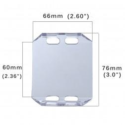 Cobertura / Capa Transparente FHK-66MM-6.5CM para Barra led com 6.5 cm