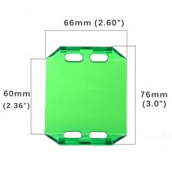 Cobertura / Capa Verde  FHK-66MM-6.5CM para Barra led com 6.5 cm