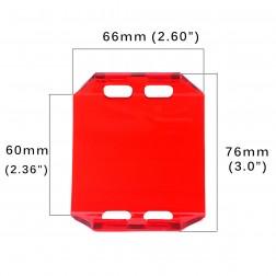 Cobertura / Capa Vermelha  FHK-66MM-6.5CM para Barra led com 6.5 cm